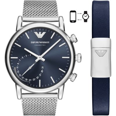 Gents Emporio Armani Connected Bluetooth Hybrid Smartwatch Giftset ART9003