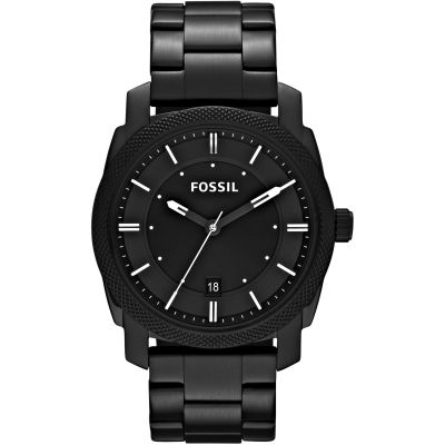 Fossil Machine Black Stainless Steel Watch FS4775