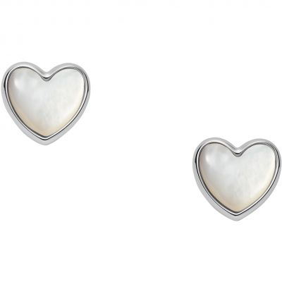 Fossil Dames Heart Stud Earrings Verguld Zilver JFS00442040