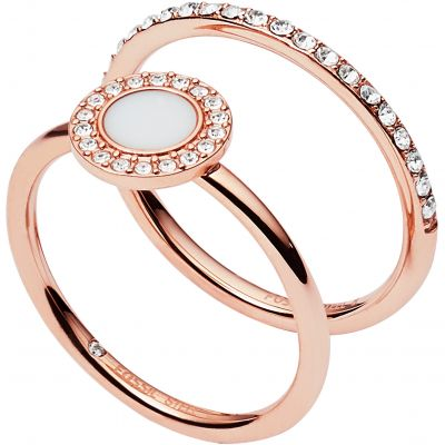 Fossil Dames Ring Size K Verguld Rose Goud JF02666791503
