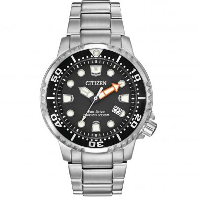 Mens Citizen Eco-drive Divers Stainless Steel Watch BN0150-61E