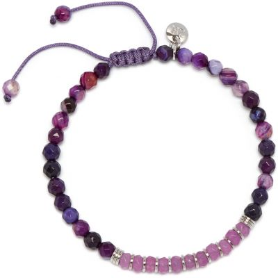 Damen Lola Rose Wandsworth Orchid Purple Quartzite and Purple Persian Agate Armband 722377
