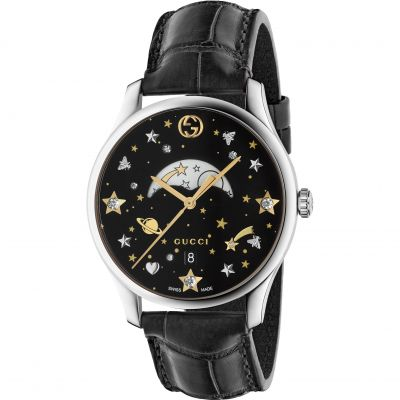 Gucci Moonphase Moonphase Damenuhr in Schwarz YA1264091