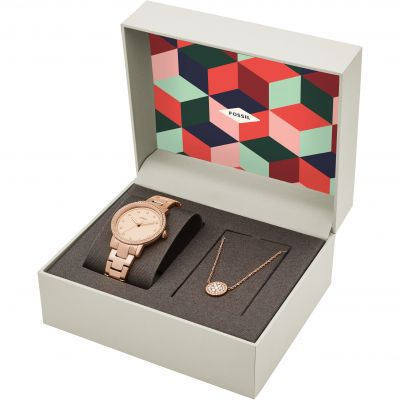 Fossil Neely Necklace Gift Set Damenuhr ES4330SET