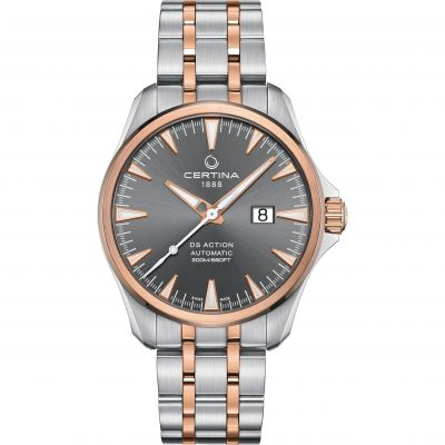Certina DS Action Big Date Exclusive Herrklocka Tvåfärgad C0324262208100