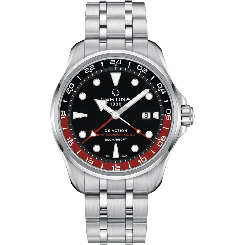 Certina DS Action GMT Automatic Dual Display Watch C0324291105100