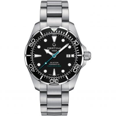 Certina DS Action Diver Powermatic 80 Sea Turtle Conservancy Herrklocka Silver C0324071105110