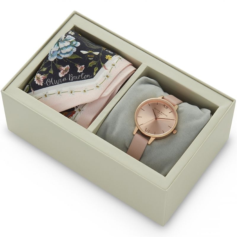 Scarf Tie Gift Set Watch OB16GSET23 for £90