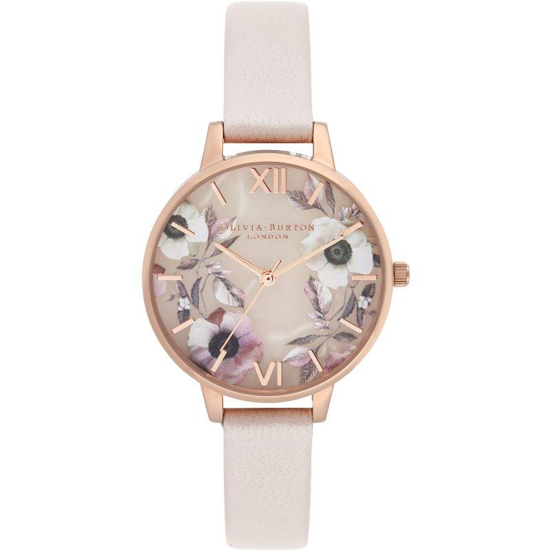 Semi Precious Rose Quartz, Pearl Pink & Rose Gold Watch
