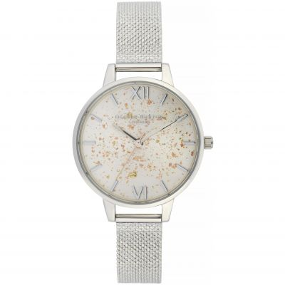 Celestial Demi Dial Watch With Boucle Mesh Watch