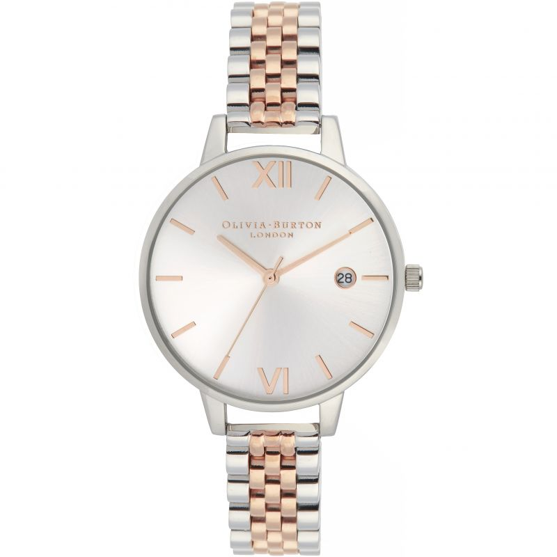 Ladies Olivia Burton Sunray Demi Dial Watch Watch OB16DE06