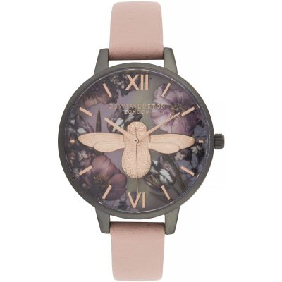 Twilight Demi Dial Watch With Lilac Mother-Of-Pearl Watch
