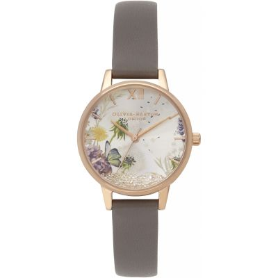 Montre Femme Olivia Burton The Wishing Watch Rose Gold Silver & London Grey OB16SG02