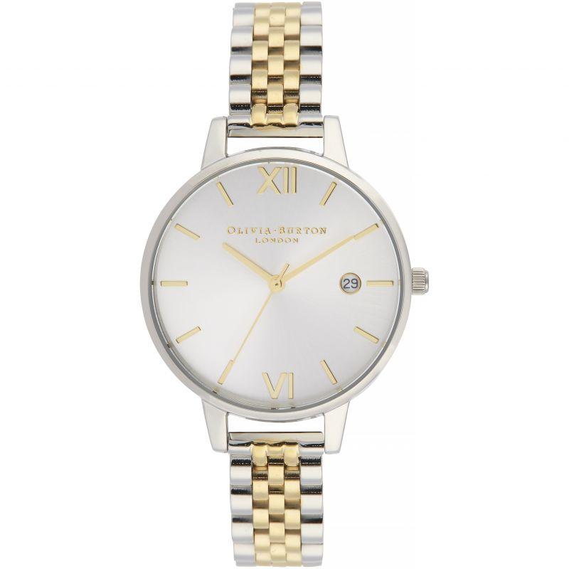 Demi Date Silver & Gold Sunray    Watch
