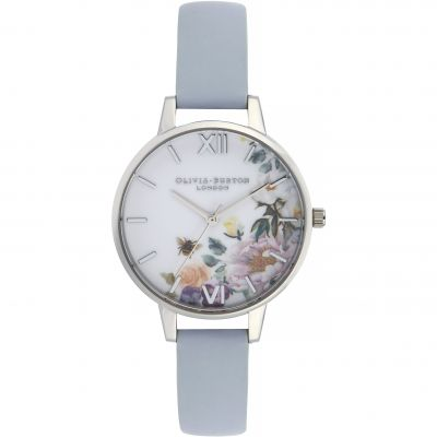 Montre Femme Olivia Burton Enchanted Garden Rose Gold & Chalk Blue OB16EG114