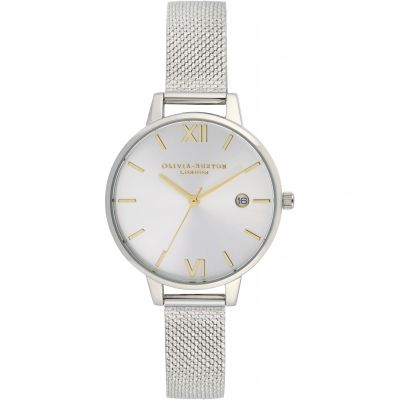 Sunray Demi Dial Watch With Boucle Mesh Watch