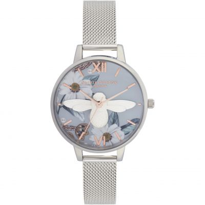 Bejewelled Florals Rose Gold & Silver Watch