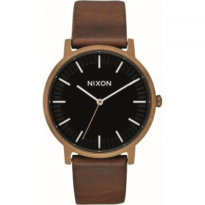 Nixon The Porter Leather Unisexuhr A1058-3053