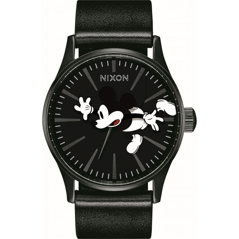 Nixon The Sentry Leather Disney Mickey Watch