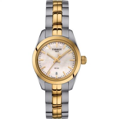 Tissot Ladies 25mm PR100 Damenuhr in Zweifarbig T1010102211100