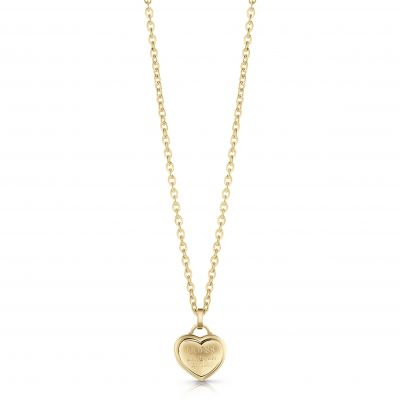GUESS gold plated logo heart pendant necklace.