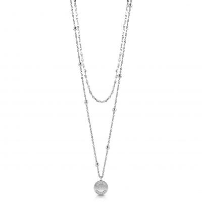 Guess Dam Silver Necklace UBN28031