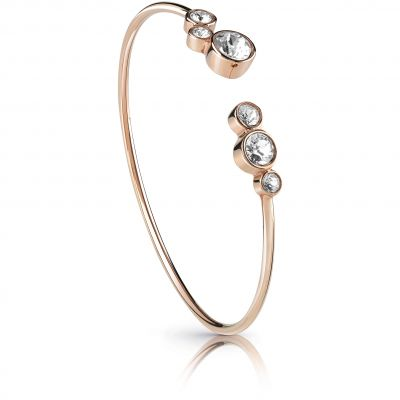 GUESS rose gold plated flexi-bangle with Swarovski® crystals.