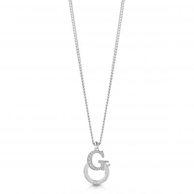 GUESS rhodium plated 16-18