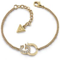 GUESS rose gold plated bracelet with G-handcuff pendant and Swarovski® crystals
