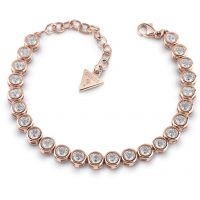 GUESS rose gold plated tennis bracelet with Swarovski® crystals.