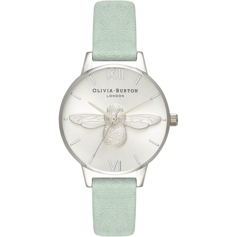 3D Bee Silver & Sage Watch