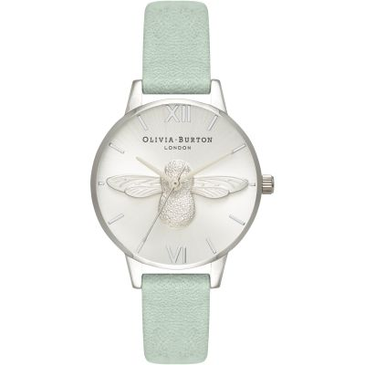 3D Bee Rose Gold & Sage Watch