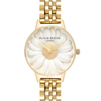 3D Daisy Gold Bracelet Watch