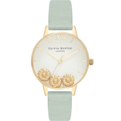 Dancing Daisy Gold & Sage Watch