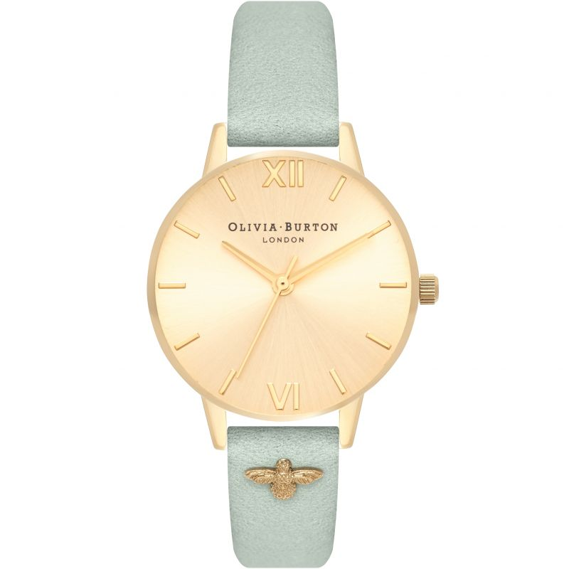 Embellished Strap Gold Sunray & Sage Watch OB16ES17 for £92