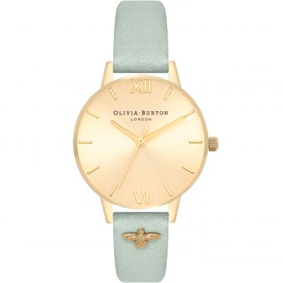 Embellished Strap Gold Sunray & Sage Watch
