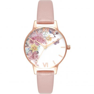 Montre Femme Olivia Burton Enchanted Garden Gold & Rose Sand OB16EG100