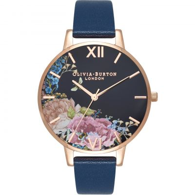 Montre Femme Olivia Burton Enchanted Garden Rose Gold & Navy OB16EG102