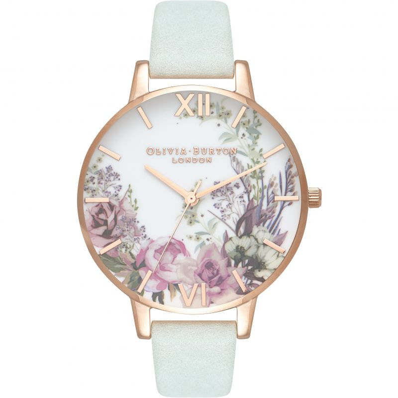 Enchanted Garden Rose Gold & Sage Watch