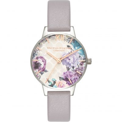 Glasshouse Nude Silver & Grey Lilac Watch