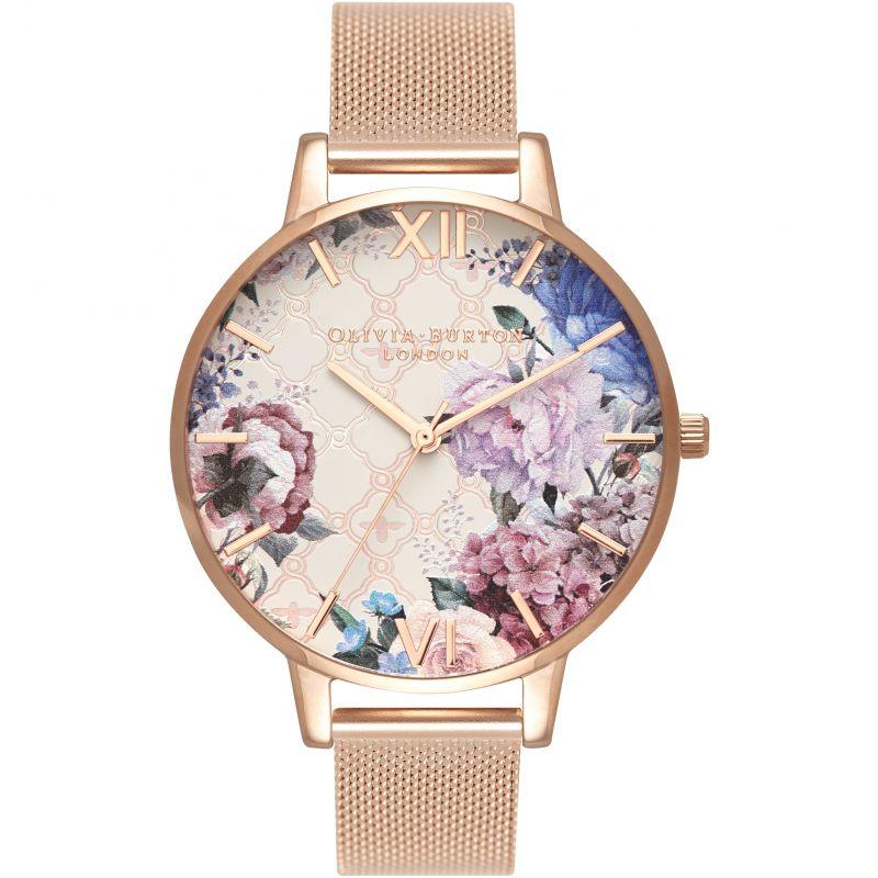Glasshouse Rose Gold Mesh Watch