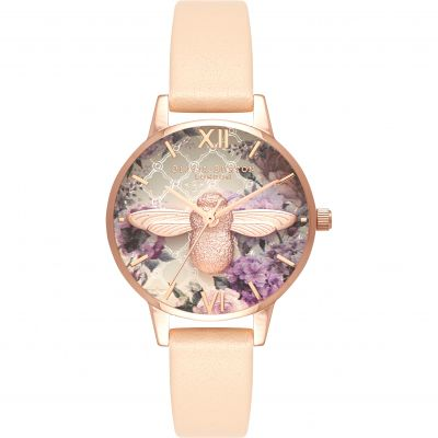 Montre Femme Olivia Burton Glasshouse Rose Gold & Nude Peach OB16EG98