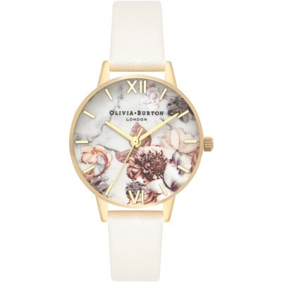 Marble Florals Gold & Nude Watch