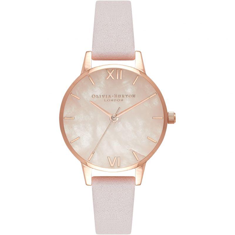 Semi Precious Rose Quartz Rose Gold & Blossom Watch