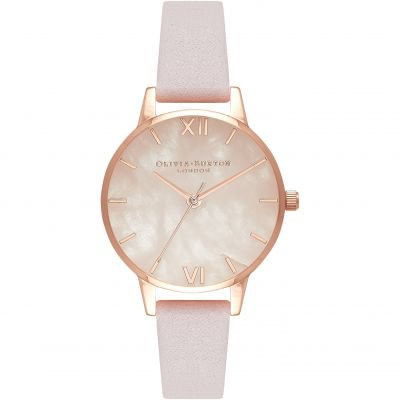Montre Femme Olivia Burton Mother Of Pearl Bracelet Rose Gold And Silver & Blossom OB16SP02