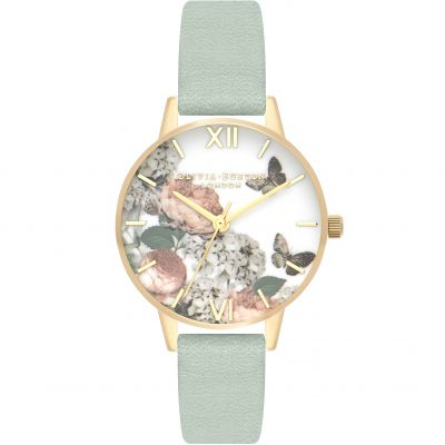 Signature Florals Gold & Sage Watch