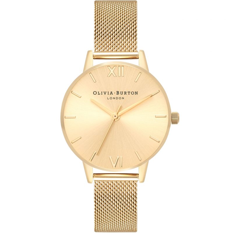 Sunray Dial Gold Mesh Watch