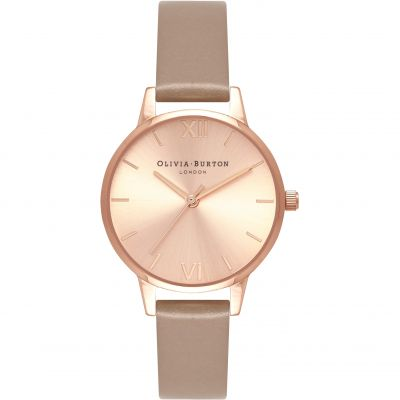 Montre Femme Olivia Burton Sunray Dial Silver & Sand OB16MD88