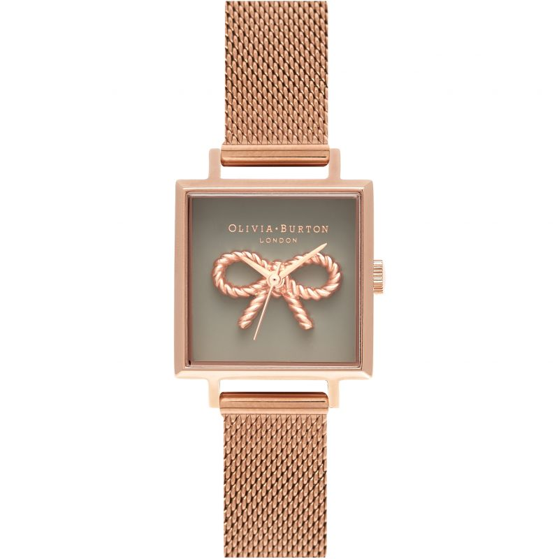 Vintage Bow Grey & Rose Gold Watch