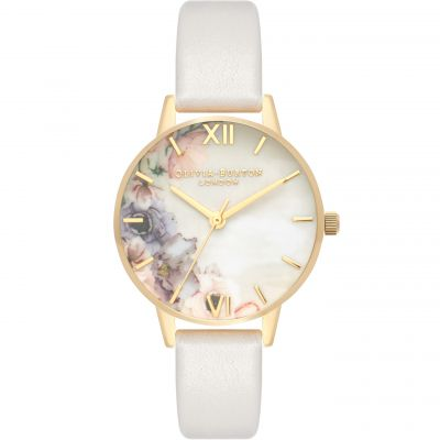 Watercolour Florals Blush & Gold Watch